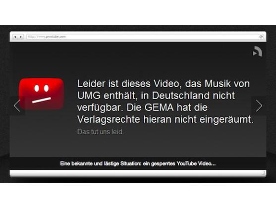 ProxTube ermöglicht es, gesperrte YouTube-Videos anzusehen.
