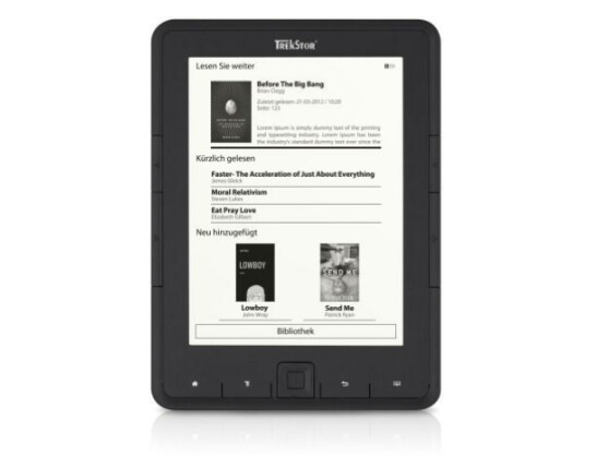 Pyrus nennt sich der neue E-Book-Reader von TrekStor.