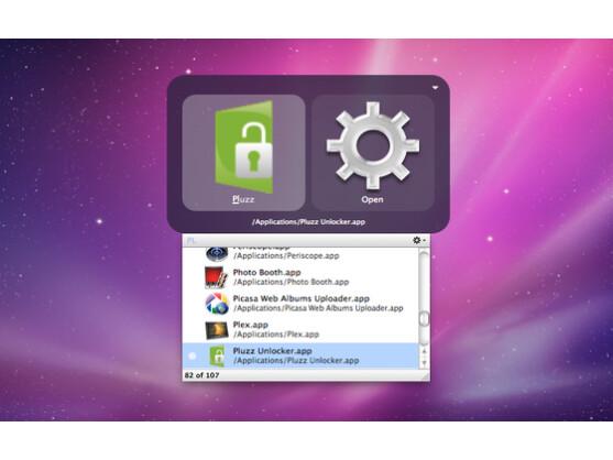 Quicksilver öffnet Programme und Dienste in Sekunden.
