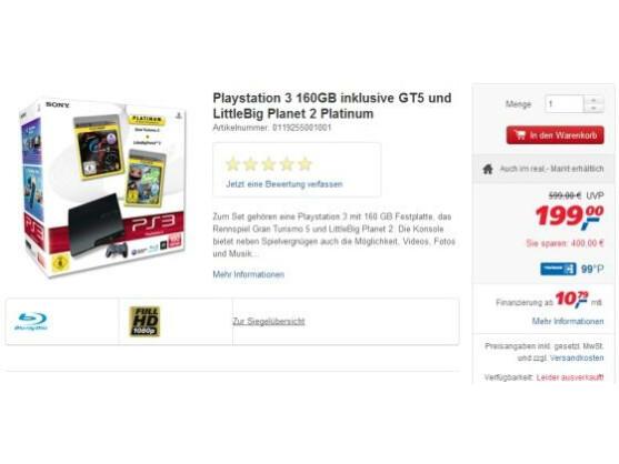 Bei real ist diese Woche die Sony PlayStation 3 im Angebot.