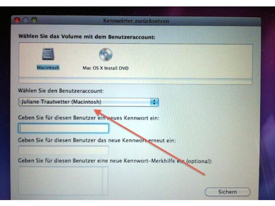 Im Recovery-Modus kann ein Passwort beliebig geändert werden - auch von Administratoren.