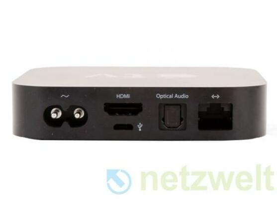 Auf der Rückseite stehen je ein Ethernet-, HDMI- und digital-optischer Anschluss zur Verfügung.
