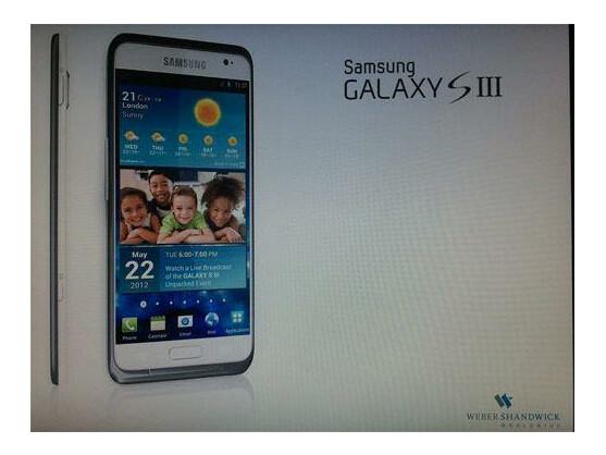 Ist das das Samsung Galaxy S3? Das Bild soll Samsungs neues Smartphone-Flaggschiff zeigen.