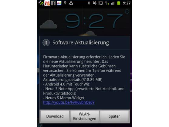 Samsung hat mit der Veröffentlichung des Android 4.0-Update für das Galaxy Note begonnen.