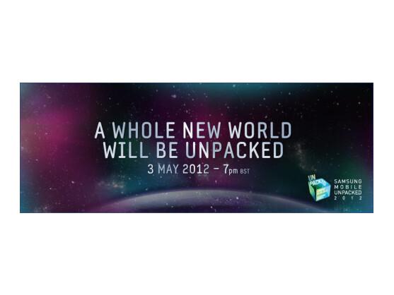 Samsung verspricht Großes für den 3. Mai.