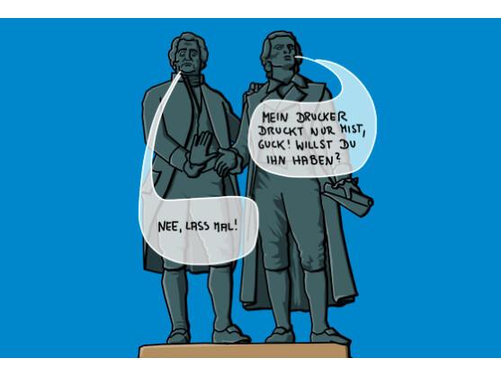 Schockierend: Weder Schiller noch Goethe haben je einen Drucker benutzt!
