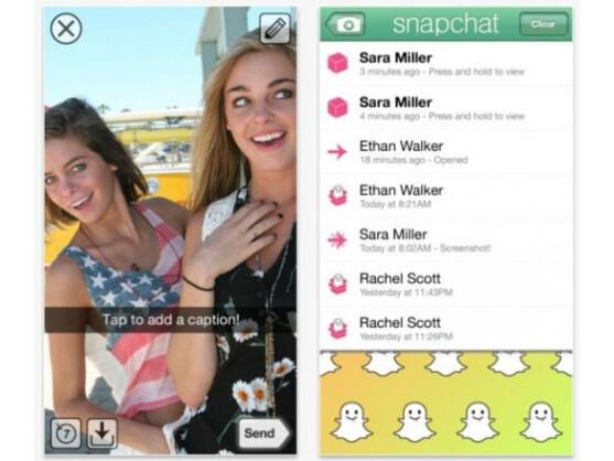 Snapchat ist ein auf Fotos basierender Kurznachrichtendienst.