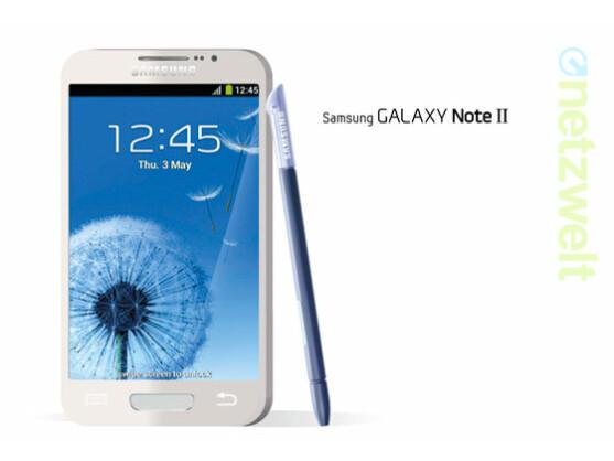 So könnte das Galaxy Note 2 aussehen: Aktuell wird über ein 5,5 Zoll großes Display und ein Galaxy S3-ähnliches Design spekuliert.
