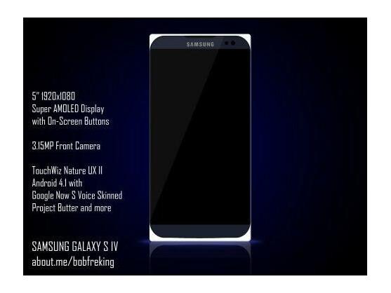 So könnte das Samsung Galaxy S4 mit 5-Zoll-Display aussehen.