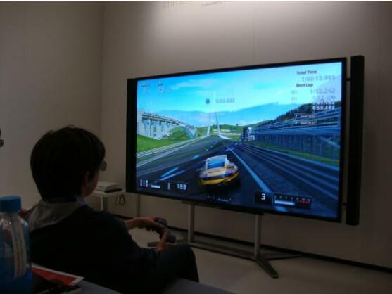 Sony präsentierte auf seinem neuen 4K-Fernseher auch die 3D-Split-Screen-Technik für die PlayStation 3.