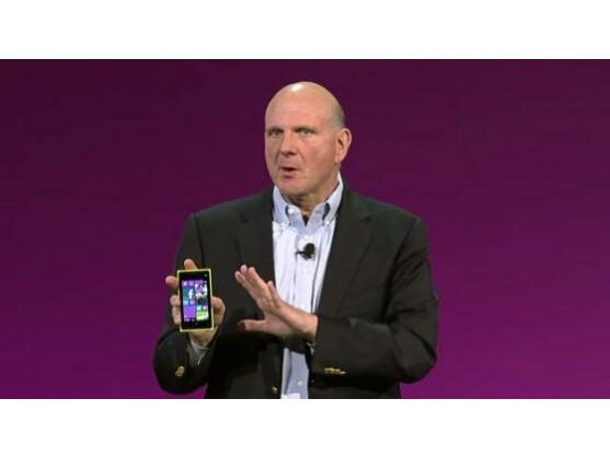 Steve Ballmer präsentierte beim Windows Phone 8-Launch Smartphones von Samsung, HTC und Nokia.
