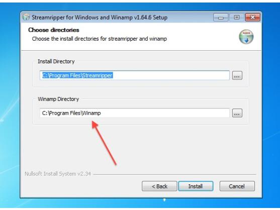 StreamRipper installiert sich in der Regel automatisch in das Winamp-Verzeichnis.