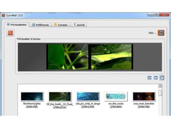 SyncWall gleicht den Hintergrund mehrerer PCs ab.