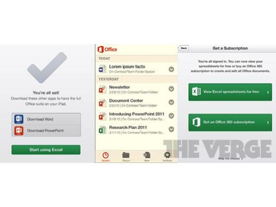 The Verge hat einen ersten Screenshot der mobilen Office-App veröffentlicht.