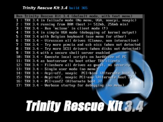 Das Trinity Rescue Kit hilft beim Zurücksetzen von Windows-Passwörtern .