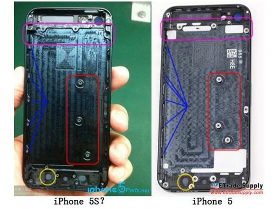 Verändert hat sich bei der ominösen iPhone 5S-Rückseite nur die Zahl und Position der Bohrlöcher für Befestigungsschrauben.