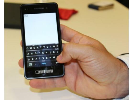 Mit der virtuellen Tastatur von BlackBerry 10 sollen Nutzer so schnell wie auf einer physikalischen Tastatur tippen können.