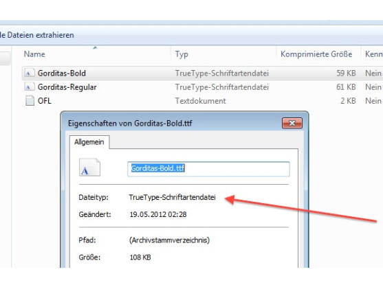 Windows 7 unterstützt neben OpenType auch das TrueType-Format.