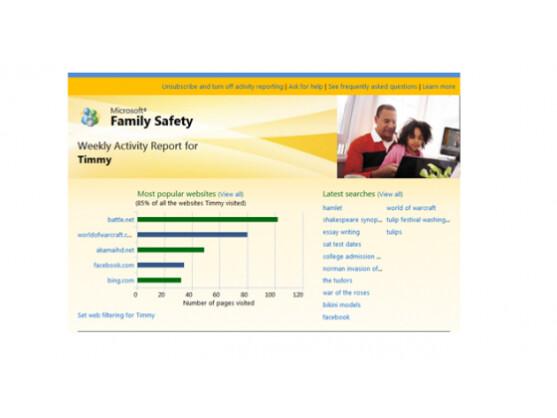 Windows 8 soll Eltern mehr Kontrolle über die Webaktivitäten ihrer Kinder geben.