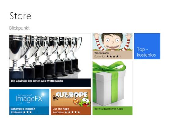 Im Windows Store sind bereits zahlreiche spannende Apps erhältlich.