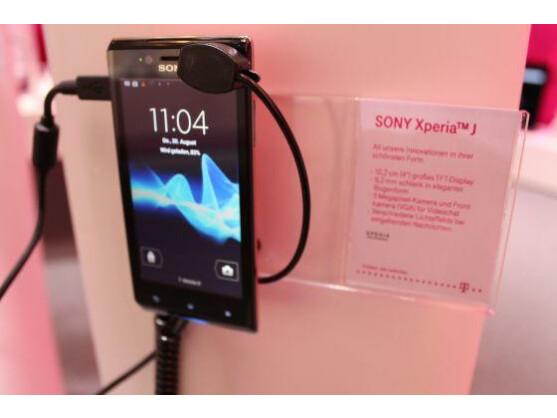 Das Xperia J ist das Einsteigermodell der neuen Sony-Serie.