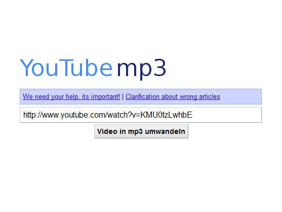 YouTube-mp3.org drohen rechtliche Konsequenzen von YouTube.