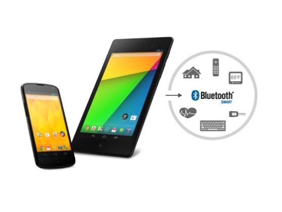 Ab Version 4.3 unterstützt Android nun auch Bluetooth Smart.