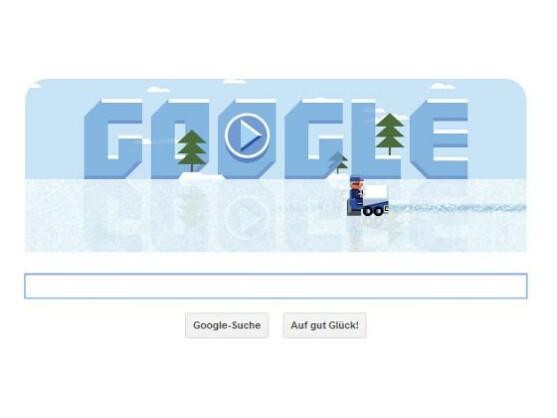 Im aktuellen Google Doodle wird auf dem Eis gewerkelt.