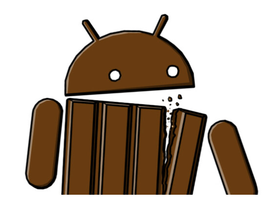 Das Android-Männchen im KitKat-Look.