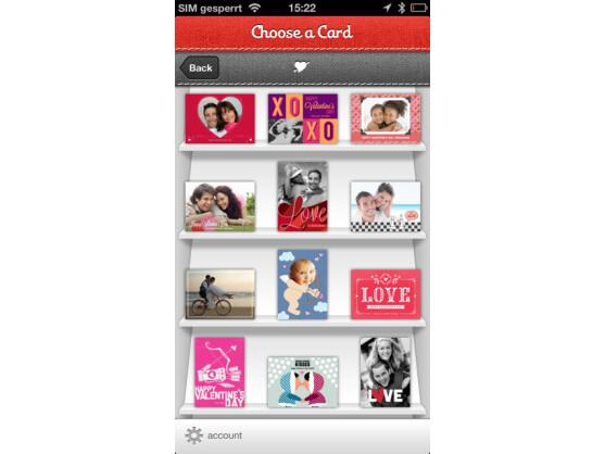 App Ink Cards: Elektronische Karten zum Valentinstag.