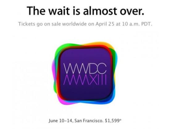 Apple hat den Start der WWDC 2013 auf den 10. Juni gelegt.