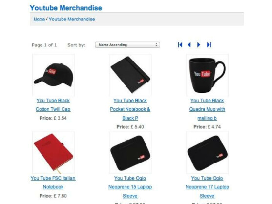 Bald nicht das einzige, was bei YouTube kostenpflichtig ist: YouTube-Merchandising