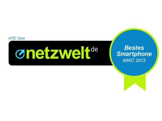 Das beste Smartphone des MWC aus netzwelt-Sicht: Das HTC One.