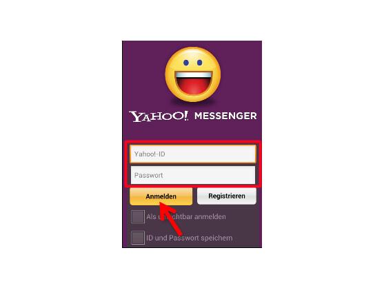 Im Yahoo! Messenger anmelden.