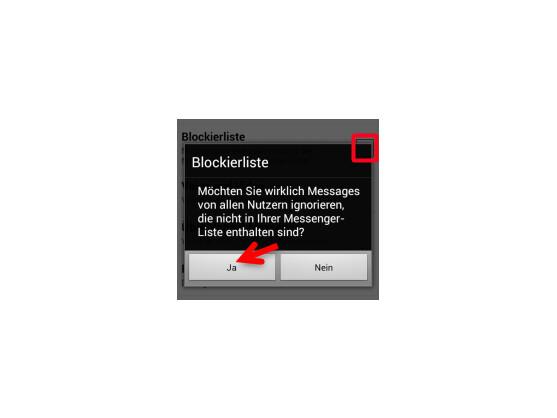 Blockierliste aktivieren.