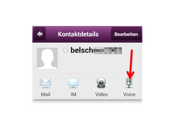 Sprachanruf im Messenger starten.