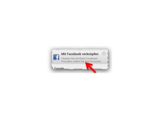Yahoo! mit Facebook verknüpfen.