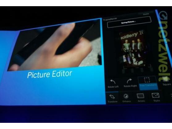 BlackBerry 10 erlaubt Bildbearbeitung direkt auf dem Smartphone.