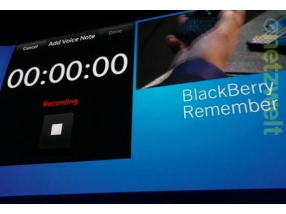 BlackBerry Remember ist eine umfangreiche Notiz-App.