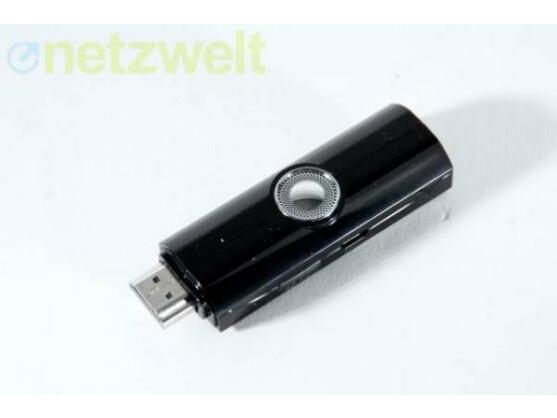 Bringt Android auf den Fernseher: der HDMI-Stick TizzBird N1.