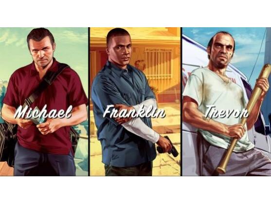 Die drei Helden von GTA V.