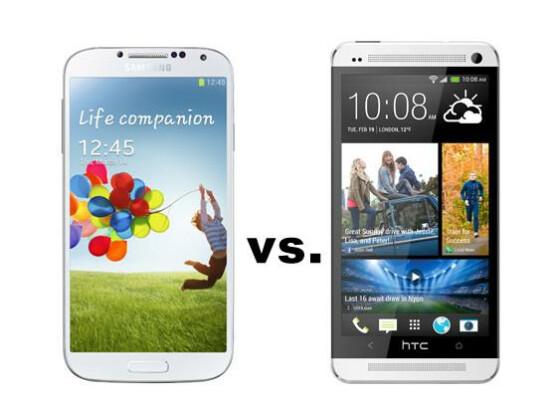 Duell auf Augenhöhe: Samsung Galaxy S4 (links) versus HTC One.
