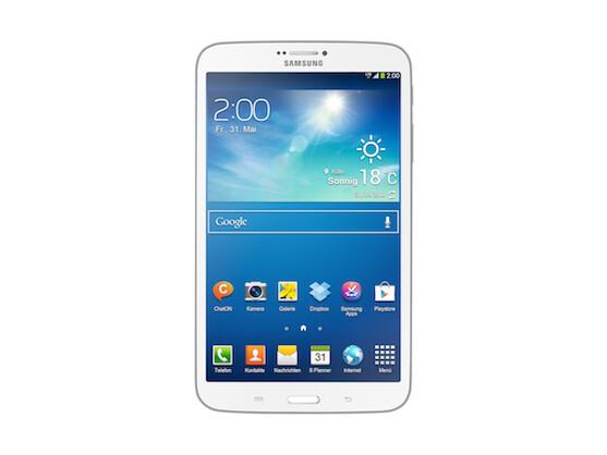 Dünner und leichter als das Galaxy Note 8.0: Samsung Galaxy Tab 3 8.0