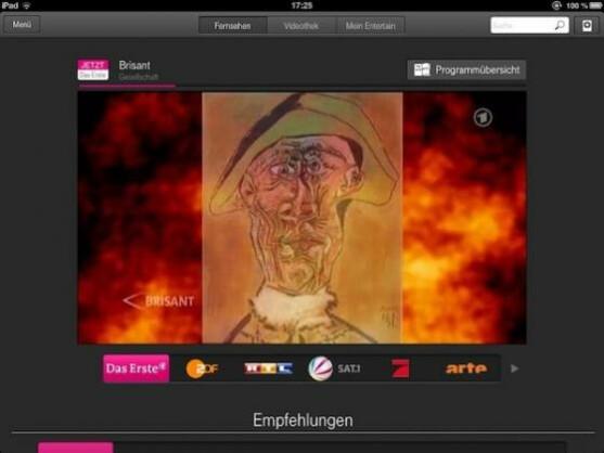 """""""Entertain to go"""": Internetfernsehen der Telekom auf PC, Notebook und iPad."""