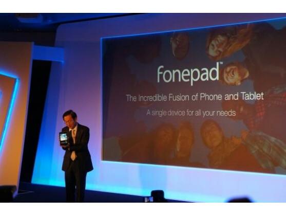 Das Fonepad ist die zweite Neuvorstellung von Asus. Im Gegensatz zum PadFone lässt es sich jedoch nicht mit einem Tablet kombinieren.