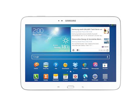 Das Galaxy Tab 3 10.1 ist das neue Flaggschiff-Modell der Reihe. Es erscheint Ende August in Deutschland.