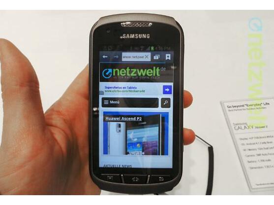 Das Galaxy Xcover 2 ist ein robustes Samsung-Smartphone.