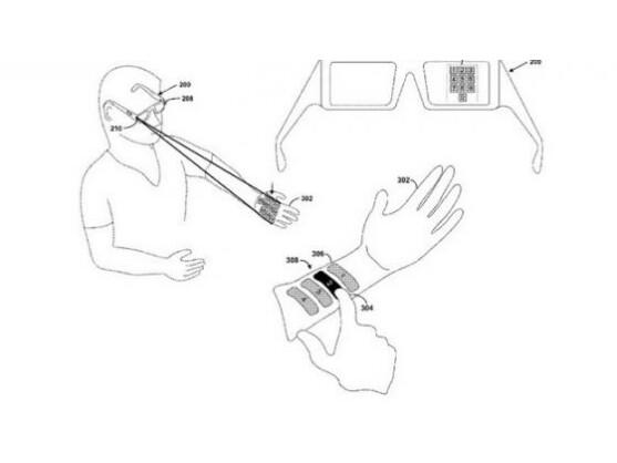 Wird sich Google Glass über eine virtuelle Tastatur auf dem Unterarm steuern lassen?