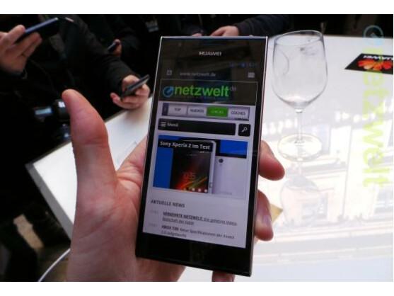 Das Huawei Ascend P2 unterstützt via LTE-Cat-4 Downloads mit einer Geschwindigkeit von bis zu 150 Megabit pro Sekunde.