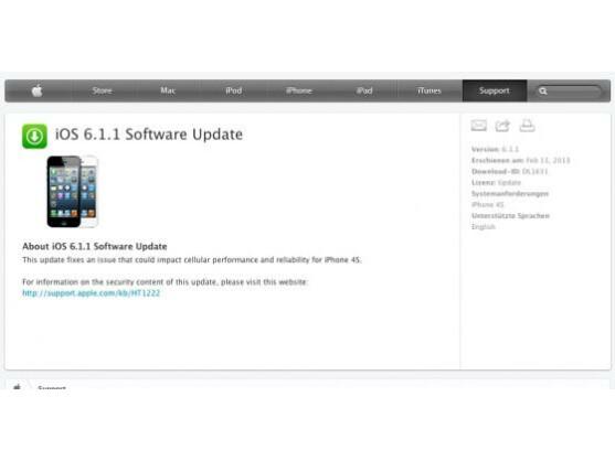Das iOS-Update soll Empfangsprobleme beim iPhone 4S beheben.